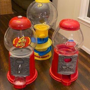 3 PC BUNDLE Jelly Belly & Double Bubble Dispensers